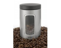 Brabantia Window Canister 1.4L - Matt Steel