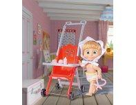 MASHA AND THE BEAR Masha in stroller doll