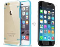 Pro-Case Apple iPhone 6 Ultra-thin Silicone Case Transparent-Turquoise + screen protector!