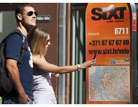 Sixt rent a bicycle in Riga and Jurmala, year 2017 subscription