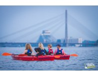 Canoe ride through Daugava and Riga canal