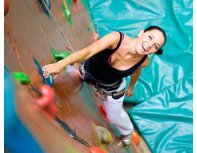 Climbing on a climbing wall