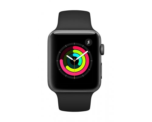 Viedais pulkstenis APPLE Watch 3 GPS, 42mm Space Grey / Black