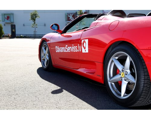Brauciens ar Ferrari F360 Rīgas ielās + video