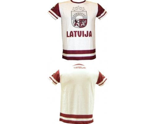 Hockey Fan T-shirt Latvia (light)