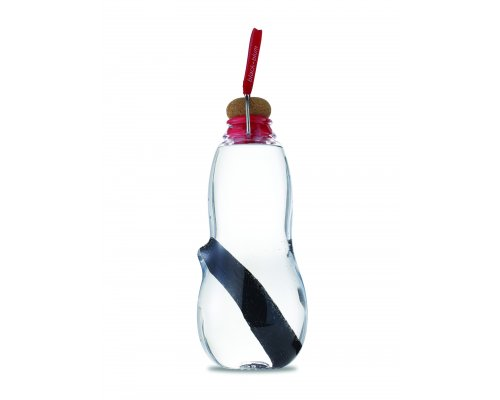 Black + Blum EAU GOOD Water Bottle - Set with 5 Charcoals Red