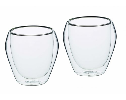 Le'Xpress Double Walled Glass Tumblers, 2pcs.