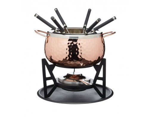 Artesà Fondue Set Hand Finished Copper Effect