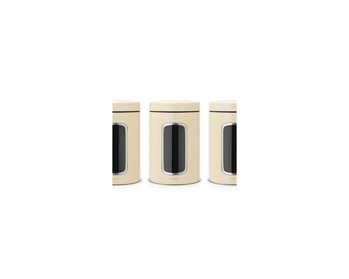 Brabantia Window Canister Set Almond (3pcs.)