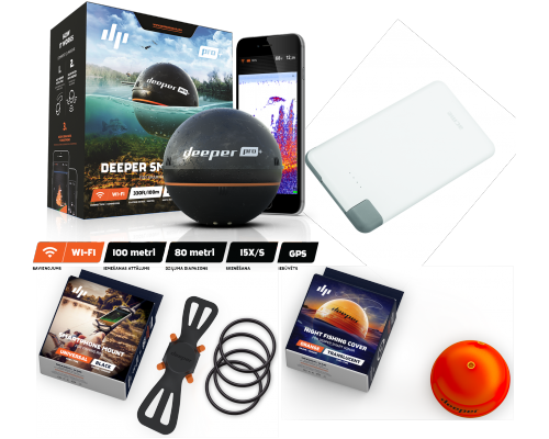 Deeper Fishfinder Sonar Pro+ iOS & Android Bluetooth eholote (DP1H10S10)