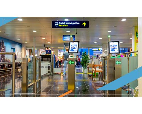 Вильнюсский аэропорт предлагает пассажирам более быстрый и удобный способ прохождения проверки авиационной безопасности, то есть быструю проверку пассажиров (англ. fast track).