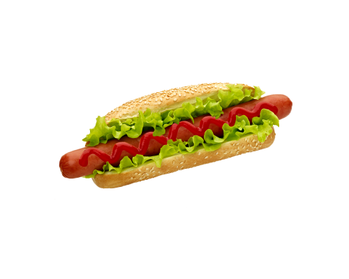 Narvesen hot dog with mighty Cabanos sausage. Price from