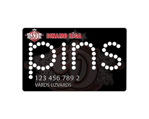 Dinamo Riga PINS Card
