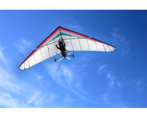 Hang gliding above Riga