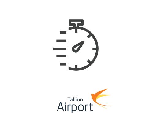 Ātrā drošības kontrole Tallinas lidostā