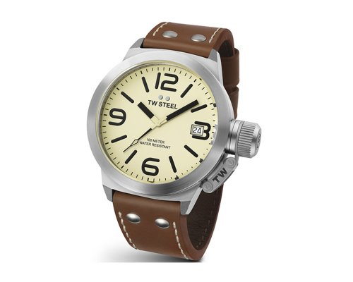 TW Steel CEO Canteen CE 1005 Ø45MM Steel Case Leather strap