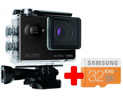 Acme VR04 Compact HD + Samsung 32GB MicroSD EVO memory card