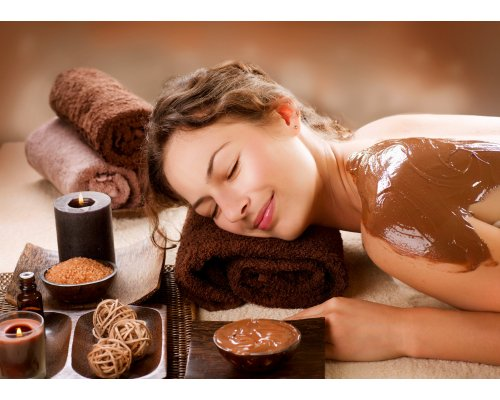 Delicious chocolate SPA procedure