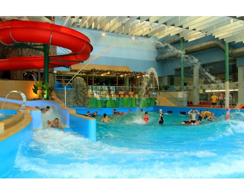 Water adventure park visit in Ventspils