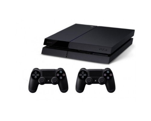 Sony Playstation 4 1TB (PS4) BLACK + Dualshock4 Wireless Controller 2pcs.