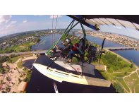 Hang gliding above Riga