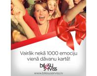 Подарочный Сертификат Biļešu Serviss, €20