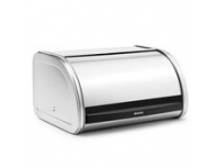 Brabantia Top Roll Bread Bin Medium Matt Steel
