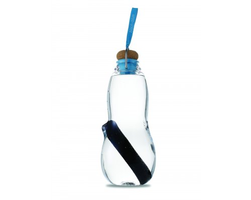 Black + Blum EAU GOOD Water Bottle - Set with 5 Charcoals Blue