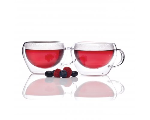Le`Xpress divkāršo sieniņu stikla tējas tases
