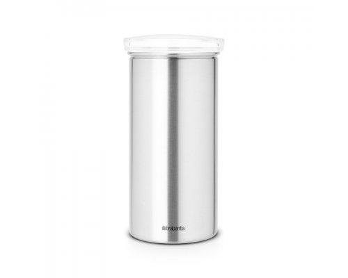 Brabantia Coffee Pod Canister, Transparent / Matt Steel