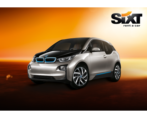 Sixt rent a car in Riga and all over Latvia, BMW i3