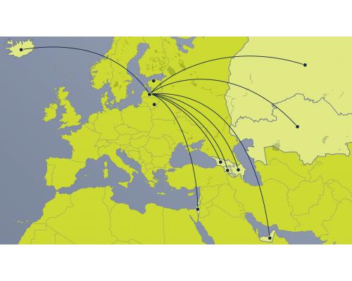 Vienvirziena lidojuma e-kupons –  5. reģions