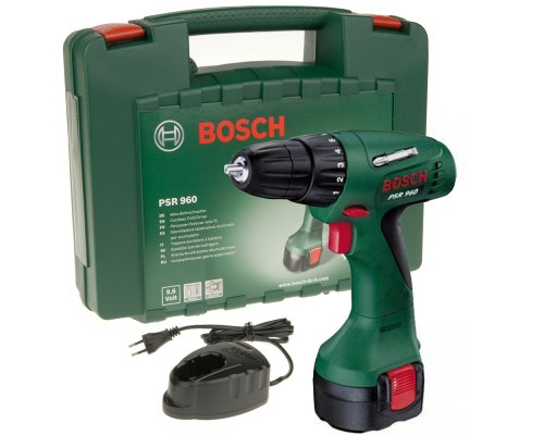 bosch psr 960 cordless drill 9 6 v 1 3 ah nicd incl rechargeables. Black Bedroom Furniture Sets. Home Design Ideas