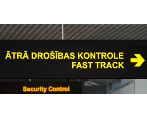 Купон на быструю проверку безопасности в аэропорту «Рига»