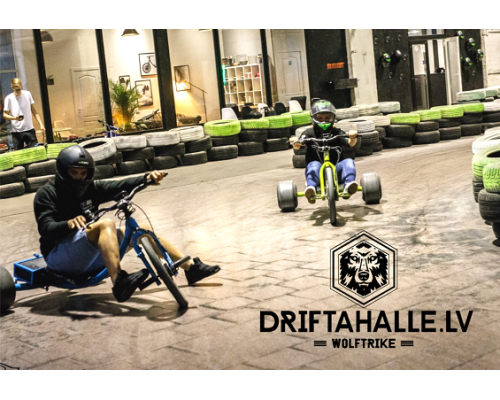 Electric drift tricycle rent for 2 persons in Drifta Halle