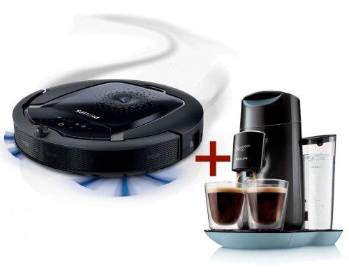 Robotic vacuum cleaner + Senseo coffee maker