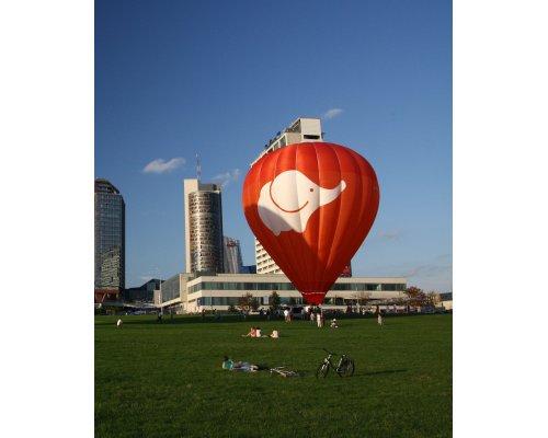 Полет на воздушном шаре в Литве